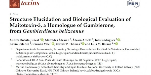 Structure Elucidation and Biological Evaluation of Maitotoxin-3, a Homologue of Gambierone, from Gambierdiscus belizeanus